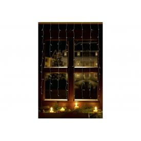 F-h-s LED-Tür-Lichtervorhang 1,3x2m 120LED 8 x15LED innen transparent