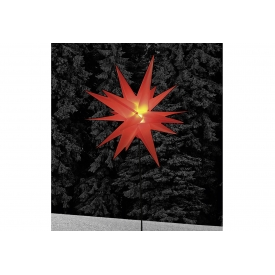 F-h-s Stern auf Stab LED Kunststoff  H90cm Ø58cm rot