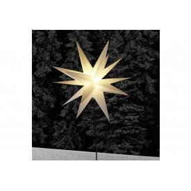 F-h-s Stern auf Stab LED Kunststoff H90cm Ø58cm weiß