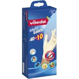 Vileda Einweghandschuh Multi Latex 40+10 Größe M/L 50er Pack