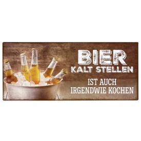 La Vida Schild Bier kalt stellen 30,5x13cm