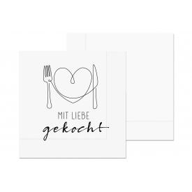 La Vida Lunch-Serviette Mit Liebe gemacht 20Stück