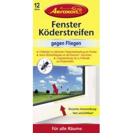Aeroxon Fenster-Köderstreifen gegen Fliegen 12 Stück