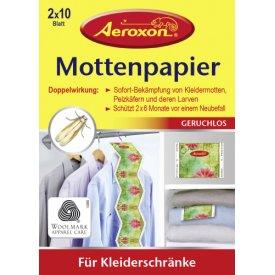 Aeroxon Mottenpapier 2 x 10 Blatt
