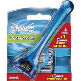 Wilkinson Sword Protector 3 Klingen 4er mit Rasierer gratis