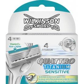 Wilkinson Sword Rasierklingen Quattro Titanium Sensitiv
