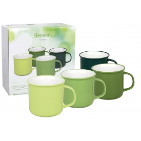 Wächtersbach Kaffeebecher Elements Jungle BC H9,5cm 4er Satz