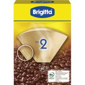 Brigitta Kaffetüten ungebleicht Größe 2