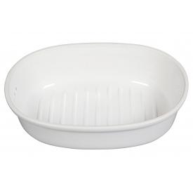 Römertopf Brottopf oval 40x28x20cm weiß