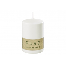 Kerze Pure Safe Candle 9x6cm natural