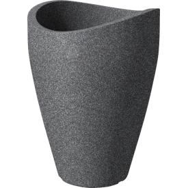 Scheurich Pflanzgefäß Wave globe Kunststoff 40cm Ø30cm schwarz/granit