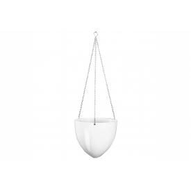Scheurich Hängeampel Kunststoff 17,5cm Ø20cm weiß