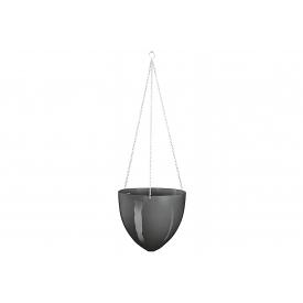 Scheurich Hängeampel Kunststoff 17,5cm Ø20cm grau