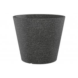 Scheurich Pflanztopf Coneo Kunststoff Ø30cm schwarz/granit
