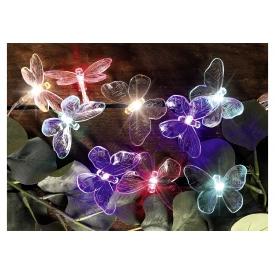 Hi Lichterkette Schmetterling LED Solar