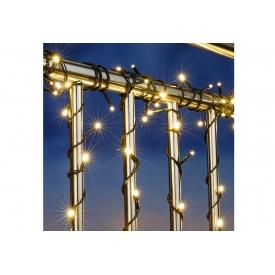 Hi LED Lichterkette mit 120 LED und Fernbedienung, IP44 Adapter