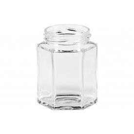 Dosen-zentrale Schraubdeckelglas 6-eckig 110 ml ohne Deckel 48mm TO
