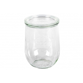 Weck Rundrandglas Tulpe 1 l mit Deckel 100mm