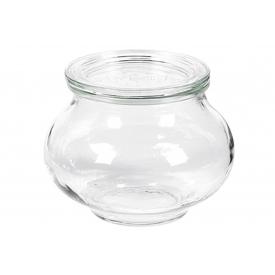 Weck Rundrandglas Schmuckform 220 ml mit Deckel 60mm