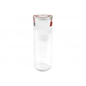 Weck -Glas Stangenform Einkochwelt 500ml mit 60mm Rundranddeckel und Siegeletikett ro