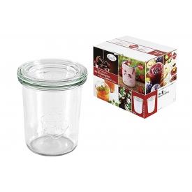 Weck Rundrandglas Einkochwelt Vor-und Nachspeisen Sturz 160 ml 12er Karton mit Deckel