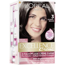 L`Oreal Dauerhafte Haarfarbe Excellence Dunkelbraun 3