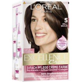 L`Oreal Dauerhafte Haarfarbe Excellence Hellbraun 5