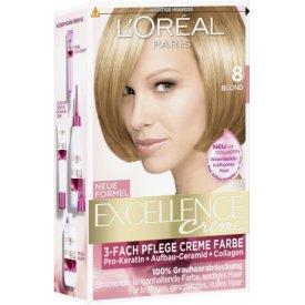 L`Oreal Dauerhafte Haarfabe Creme Haarfarbe Excellence Creme Blond 8