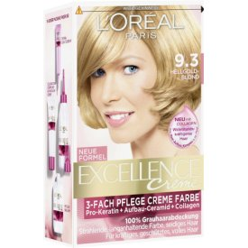 L`Oreal Dauerhafte Haarfarbe Excellence 10 9.3 Hell Goldblond