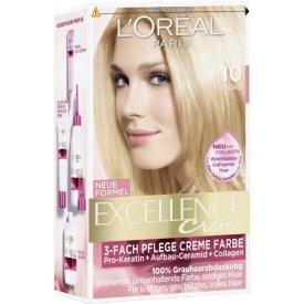 L`Oreal Dauerhafte Haarfarbe Excellence Lichtblond 10