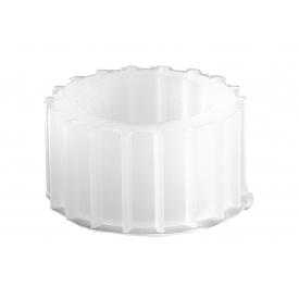 Kerzenhalteraufsatz Glas für Teelichte 8cm Ø5,5cm silber