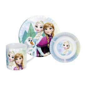 P:os Frühstücks-Set Frozen Porzellan 3tlg