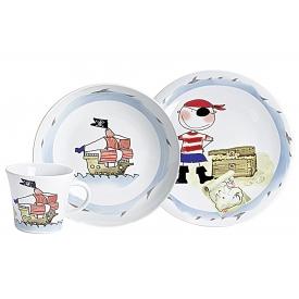 Kahla Kinder-Geschirrset Schatzpirat Porzellan 3teilig