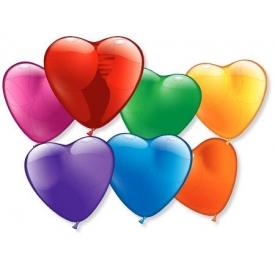 STYLEX Luftballons Herzen bunt 10er Beutel