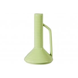 Vase m. Henkel hellgrün H25cm Keramik