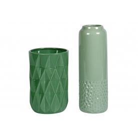Vase Kaila Keramik 18cm Ø12cm grün