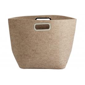 Tasche Filz 40x25x45cm beige