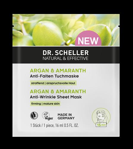 Dr Scheller&nbsp Arganöl und Amaranth Tuchmaske