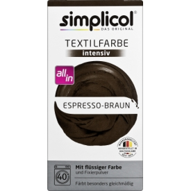 Simplicol intensiv Espresso-Braun