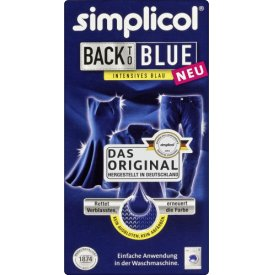 Simplicol Textilfarbe Intensives Blau Back to Blue