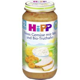 Hipp Feines Gemüse mit Reis und Bio Truthahn