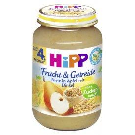 Hipp Frucht & Getreide Birne in Apfel mit Dinkel