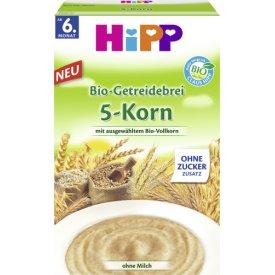 Hipp Bio-Getreidebrei 6. Monat 5-Korn