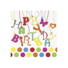 Ti-flair Lunch-Serviette 33x33cm Happy Birthday