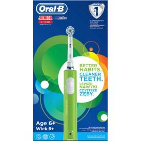 Oral-B Elektrische Zahnbürste Kinder Junior Green, ab 6 Jahre