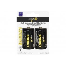 Heitech Zn-Mn-Dioxid-Batterie Mono D 2er