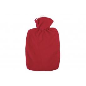 Hugo Frosch Wärmflasche Klassik Fleecebezug 1,8 l rot