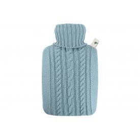 Hugo Frosch Wärmflasche Klassik 1,8l Strickbezug pastell-blau