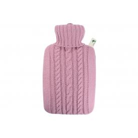Hugo Frosch Wärmflasche Klassik 1,8l Strickbezug pastell-rosa