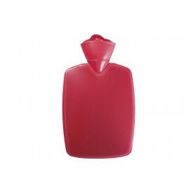 Hugo Frosch Wärmflasche 1,8l Klassik Halblamelle Sanitized® rot